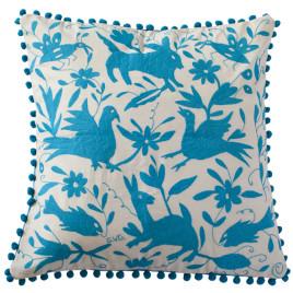Coussin bleu 65x65 Otomi ViBamos