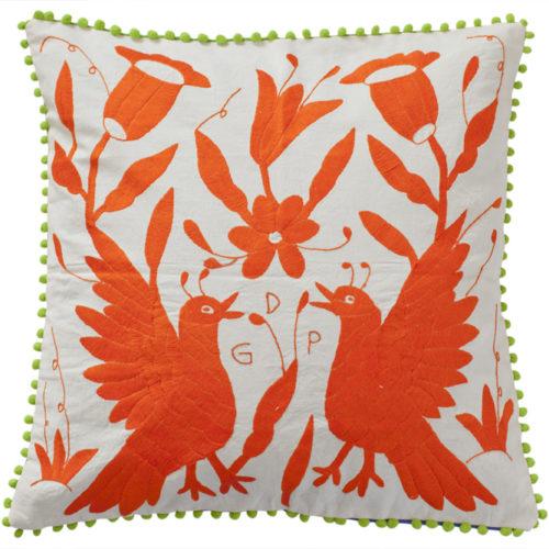 Coussin orange jumeau 50x50 Otomi ViBamos