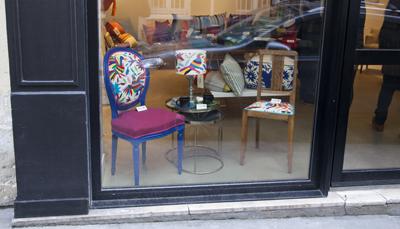 Vitrine ViBamos boutique éphémère à Montmartre