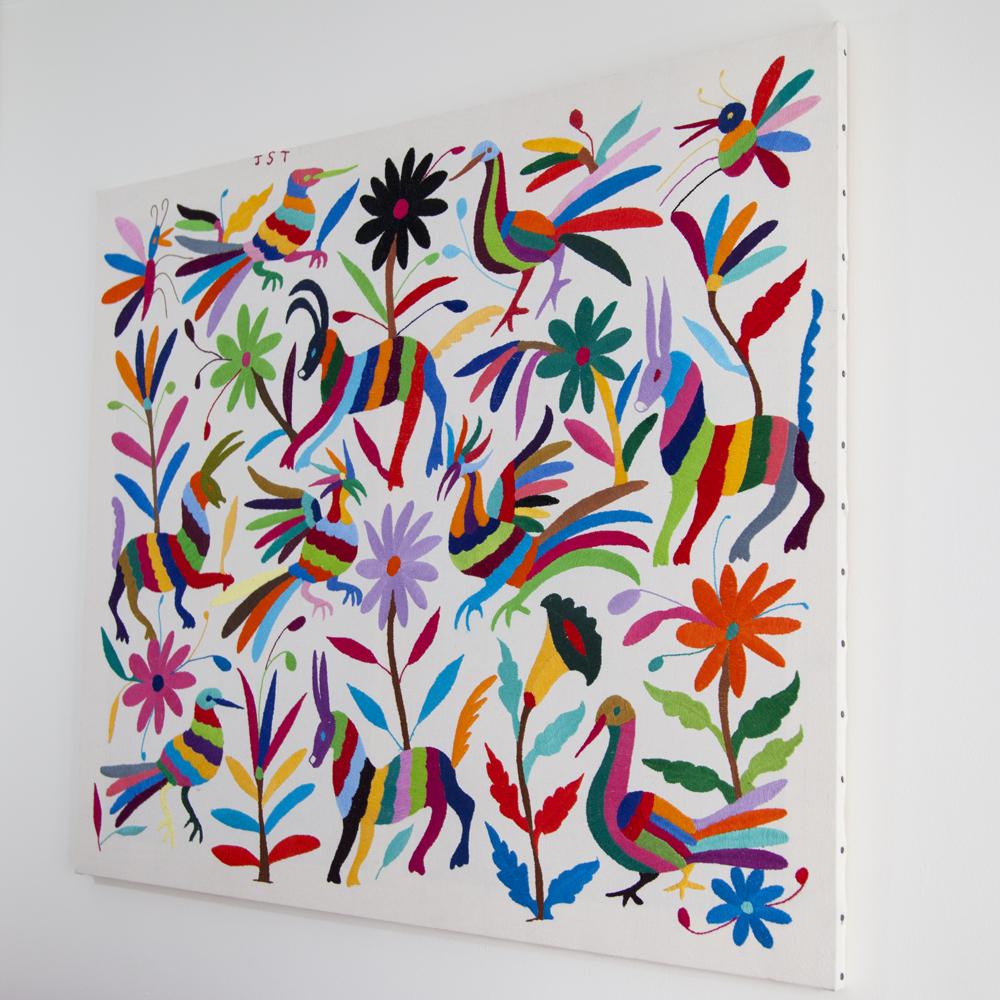 tableau artistique en tissu