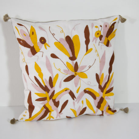 Coussin Invierno 3 Otomi ViBamos tissu mexicain. Couleur hiver 2016.