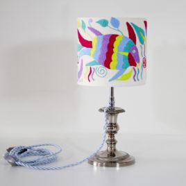 Lampe Julie ViBamos tissu Otomi mexicain