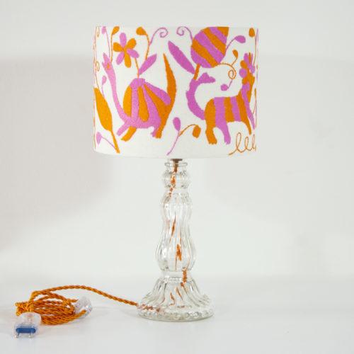 Lampe Florencia ViBamos tissu Otomi mexicain