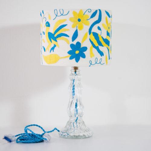 Lampe Louise ViBamos tissu Otomi mexicain