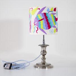 Lampe Nolwenn ViBamos tissu Otomi mexicain