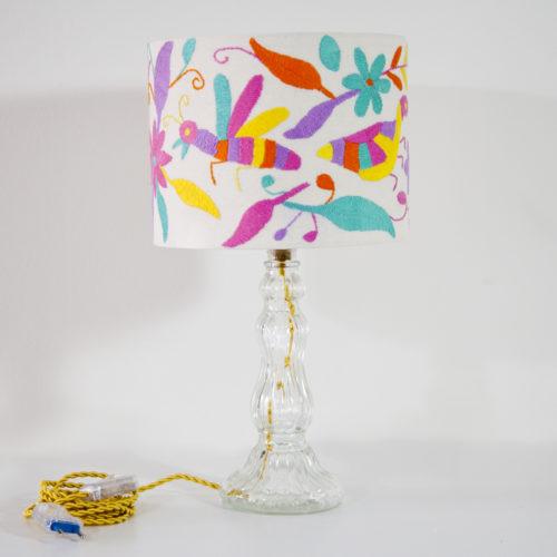Lampe Paloma ViBamos tissu Otomi mexicain